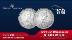 Pri príležitosti jedinečného jubilea, 100. výročia vzniku Česko-Slovenska, ponúka Národná Pokladnica v spolupráci s neziskovou organizáciou Post Bellum nádhernú pamätnú medailu pre každého ZADARMO. Pandora, Personalized Items