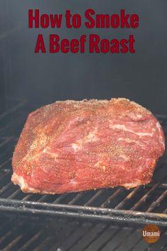 Roast Beef Marinade, Grilled Roast Beef, Smoked Beef Roast, Beef Rump Roast, Beef Chuck Roast, Bbq Beef, Traeger Recipes, Smoked Meat Recipes, Roast Beef Recipes
