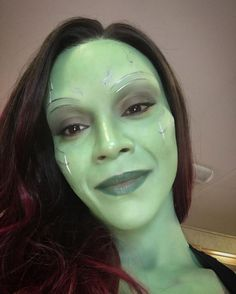 Image result for gamora zoe saldana eyebrows
