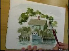 Another fine watercolor demo by Keith Whitelock; Watercolor Workshop Eps8 Vignette 30 min demo. Flat brush, detail work