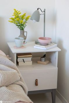 IKEA Hack TARVA bedside tables - lacquer and remodel cabinets - . - IKEA Hack TARVA bedside tables – lacquer and remodel cabinets – IKEA Hack – Tarva bedside tab - Diy Furniture Table, Bedroom Furniture Makeover, Home Decor Bedroom, Home Furniture, Diy Home Decor, Rustic Furniture, Antique Furniture, Pallet Furniture, Furniture Projects