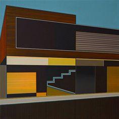 Mutterschiff #3 by Aurelia Gratz, acrylic on canvas, 50x50 cm