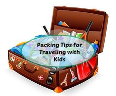 Traveling with kids can be stressful.  Grab these packing tips for traveling with kids #ad