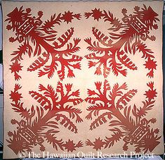 Hawaiian quilt. The Quilt Index