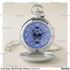 Cool Sugar Skull Pocket Watch