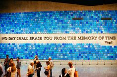 """""""Trying To Remember the Color of the Sky on That September Morning"""" by Spencer Finch. Installed at the National September 11 Memorial Museum"""