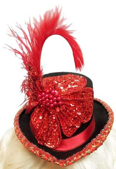 Top of the centerpiece..    Ember Showgirl Mini Steampunk Cabaret Red by JenkittysCloset, $30.00