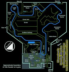 haunted mansion track layout at the magic kingdom in disney world Disneyland World, Disneyland Rides, Disney Rides, Vintage Disneyland, Disneyland Resort, Original Disneyland, Disneyland Haunted Mansion, Disneyland History, Disney Travel
