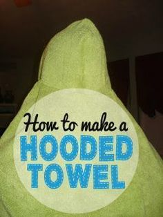 Sewing | Follow this simple tutorial to make a kids hooded towel from a hand towel and bath towel. These are so much thicker and nicer than the prefab ones you buy in the store and make awesome baby shower gifts!