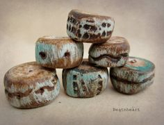 polymer clay beads by BeatnHeart