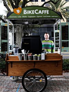 Food Inspiration Franchise Takes the Cafe Concept on the Road Café Mobile, Mobile Cafe, Mobile Shop, Food Trucks, Coffee Carts, Coffee Truck, Cafe Bar, Pimp Your Bike, Mobile Coffee Shop