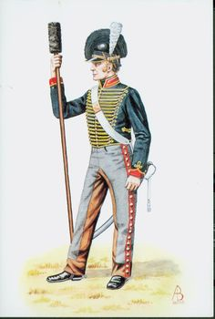1815  Gunner, Royal Horse Artillery, British.        suzilove.com