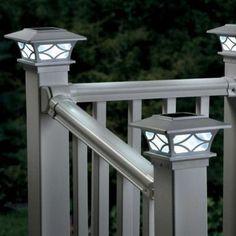 Solar Post Cap Light-Set of 2 #SkyMall #Lighting #Porch