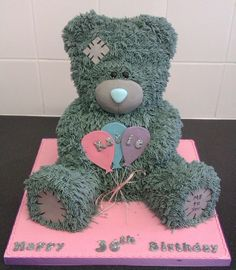 "A massive 14"" high chocolate tatty bear"