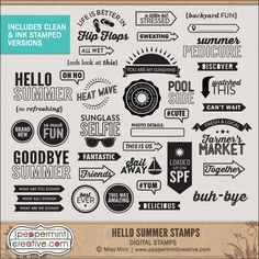 Hello Summer Stamps