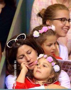 Charlene Riba Mayla Rose Mirka Roger Federer