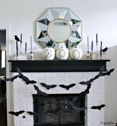 Halloween Mantel ~ Hi Sugarplum by hi sugarplum!, via Flickr