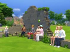 Ruin invisible benches and chair by artrui at Mod The Sims