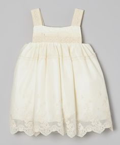 Loving this Fouger for Kids Ivory Lace Babydoll Dress - Infant on #zulily! #zulilyfinds