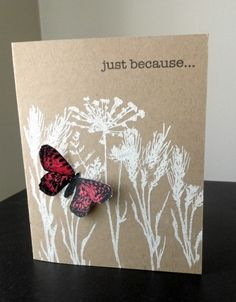 Stamps used for this: Anna Griffin butterfly, Inkadinkado Meadow, Hero Arts Everyday Messages  I'd like to use Summer Silhouettes