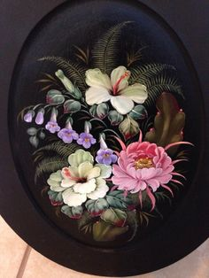 One Stroke Painting, Russian Art, Folklore, Decorative Plates, Images, Flowers, Design, Ceramic Painting, Painted Boxes