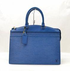 Louis Vuitton Vintage Epi Leather Handbag Blue Satchel.
