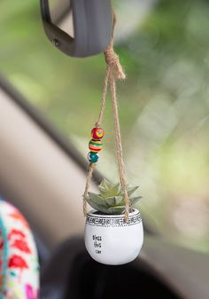 Discover cute car accessories at Natural Life! Deck out your car with adorable car stuff like steering wheel covers, hanging faux succulents and air fresheners! Car Hanging Accessories, Cute Car Accessories, Hanging Succulents, Faux Succulents, Girly Car, Car Interior Decor, Car Hacks, Cactus Y Suculentas, Cute Cars