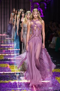 In Paris on a Sunday in July for Donatella Versace's Atelier for Fall 2015 and Winter 2016