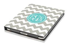 Personalized chevron iPad case- Daninotes on etsy