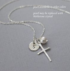 Hey, I found this really awesome Etsy listing at https://www.etsy.com/listing/208901493/personalized-cross-necklace-sterling