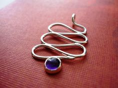 FREE SHIPPING  Winding Silver Amethyst Necklace by AZuri on Etsy, $32.00