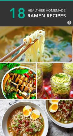 These recipes are worth trying with g. noodles-- 18 DIY Ramen Recipes That'll Make You Kick Instant Noodles to the Curb Ramen Recipes, Asian Recipes, Cooking Recipes, Healthy Recipes, Top Recipes, Clean Eating, Healthy Eating, Ramen Dishes, Homemade Ramen