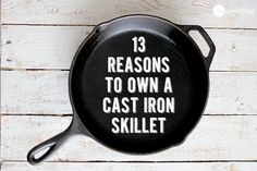 13 Reasons To Own A Cast Iron Skillet! PLUS A BLUEBERRY PANCAKE RECIPE!
