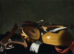 Title: Musical Instruments undated SKU: EVB-6038 Artist: Evaristo Baschenis  Orig. Size: 28.5/38.8 in Location: Boston Museum of Fine Arts Massachusetts USA Musical Instruments undated Oil Painting