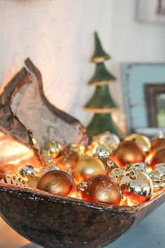 What To Put In Bowls For Decoration My Christmas Dough Bowl Centerpiece Dough Bowls  Pinterest