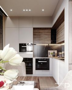 На данном изображении может находиться: в помещении Kitchen Room Design, Modern Kitchen Design, Home Decor Kitchen, Kitchen Living, Interior Design Kitchen, Home Kitchens, Kitchen Ideas, Stone Interior, Modern Kitchen Interiors
