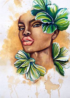 She Bloomed  Large Art Print by thatArtista on Etsy, $85.00