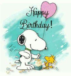 Happy Birthday - Snoopy Handing Woodstock a Pink Heart-Shaped Balloon