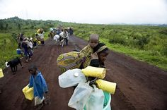 Thousands of Congolese  fled to Goma from  Rugari and from the Kibumba IDP's camp after violence started between forces loyal to renegade general Laurent Nkunda and the Congolese army.