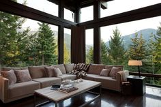 What a view!  Open with grand windows into private scenery!!!!