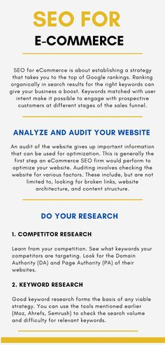 A brand new website built with good practices can skip this step. However, if you've been in business for some time, the information gathered in the audit will be very helpful. Security Certificate, Website Structure, Ecommerce Seo, Seo Ranking, On Page Seo, Building A Website, Seo Company, Seo Services, Search Engine Optimization