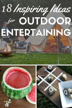 These low effort outdoor entertainment ideas will make your next summer party sing. From party games, to creative seating, and super serving suggestions, your guests will have a time they'll not soon forget.