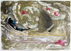 Encaustic Monotype by Kara Brook