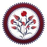 Vecteur : Traditional ottoman turkey turkish vintage rose tile design