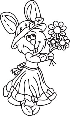 Cute Bunny Girl.  https://www.facebook.com/pages/Magic-Wonder-Tags-owner-Donna-Siegrist/180355825327681?ref=hl  #bunny #easter #clipart
