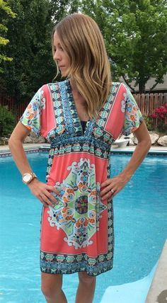 Boho Swim Suit Cover Up or Dress