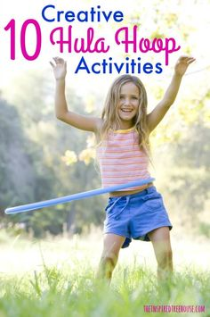 The Inspired Treehouse - 10 Fun and motivating ways to use hula hoops to promote gross motor skills in ways that you may have never thought of.