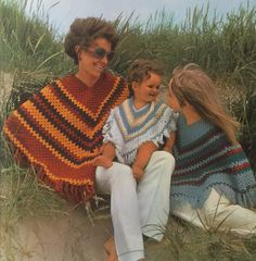 Crochet poncho.  The Family Crochet Book.  Hamlyn.