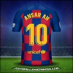 Make personalized FC Barcelona jersey. Customize jersey FC Barcelona with your name and number. Create jersey with the font FC Barcelona Custom Football Shirts, Team Shirts, Custom Shirts, Barcelona Shirt, Barcelona Jerseys, Cristiano Ronaldo Goals, Football Shirt Maker, Hope Solo, Alex Morgan