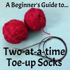 The Crafts from the Cwtch guide to casting on two-at-a-time toe-up socks with step-by-step photos and instructions.